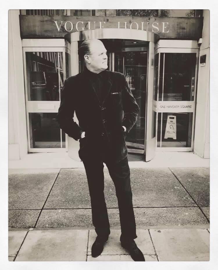 Rusty Egan outside Vogue House